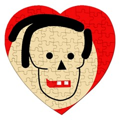 Face Jigsaw Puzzle (heart) by Valentinaart