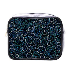 Blue Abstract Decor Mini Toiletries Bags by Valentinaart