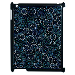 Blue Abstract Decor Apple Ipad 2 Case (black) by Valentinaart