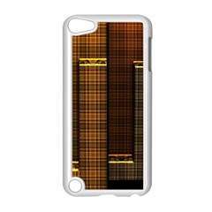 Metallic Geometric Abstract Urban Industrial Futuristic Modern Digital Art Apple Ipod Touch 5 Case (white)