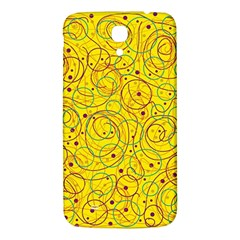 Yellow Abstract Art Samsung Galaxy Mega I9200 Hardshell Back Case by Valentinaart