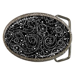 Black And White Magic Belt Buckles by Valentinaart