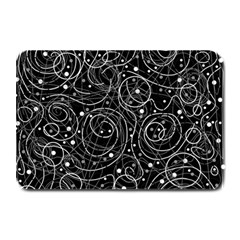 Black And White Magic Plate Mats by Valentinaart