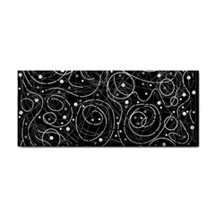 Black And White Magic Hand Towel by Valentinaart
