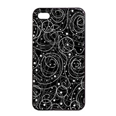 Black And White Magic Apple Iphone 4/4s Seamless Case (black) by Valentinaart