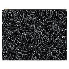 Black And White Magic Cosmetic Bag (xxxl)  by Valentinaart
