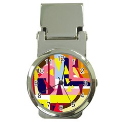 Colorful Abstraction Money Clip Watches by Valentinaart