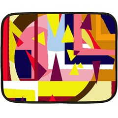 Colorful Abstraction Double Sided Fleece Blanket (mini)  by Valentinaart