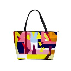 Colorful Abstraction Shoulder Handbags by Valentinaart