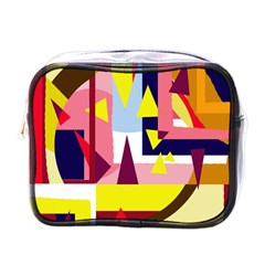 Colorful Abstraction Mini Toiletries Bags by Valentinaart