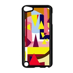 Colorful Abstraction Apple Ipod Touch 5 Case (black) by Valentinaart