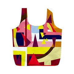 Colorful Abstraction Full Print Recycle Bags (m)  by Valentinaart
