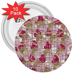 Decor 3  Buttons (10 Pack)  by Valentinaart