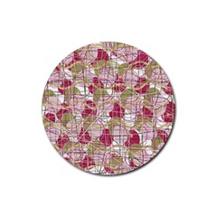 Decor Rubber Round Coaster (4 Pack)  by Valentinaart