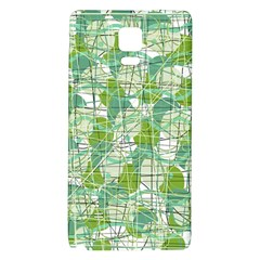 Gray Decorative Abstraction Galaxy Note 4 Back Case by Valentinaart
