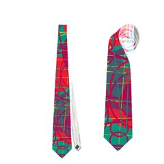 Decorative Abstract Art Neckties (two Side)  by Valentinaart