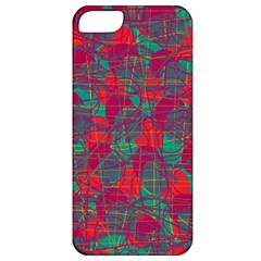 Decorative Abstract Art Apple Iphone 5 Classic Hardshell Case by Valentinaart