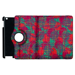 Decorative Abstract Art Apple Ipad 2 Flip 360 Case by Valentinaart