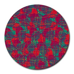 Decorative Abstract Art Round Mousepads by Valentinaart