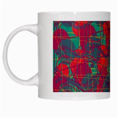 Decorative Abstract Art White Mugs by Valentinaart