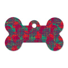 Decorative Abstract Art Dog Tag Bone (one Side)
