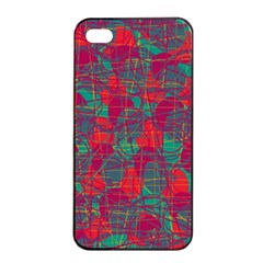 Decorative Abstract Art Apple Iphone 4/4s Seamless Case (black) by Valentinaart