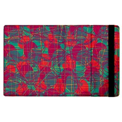 Decorative Abstract Art Apple Ipad 2 Flip Case by Valentinaart