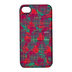 Decorative Abstract Art Apple Iphone 4/4s Hardshell Case With Stand by Valentinaart