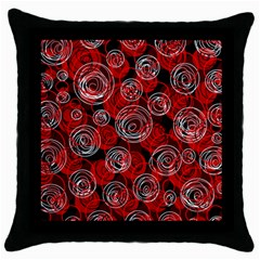 Red Abstract Decor Throw Pillow Case (black) by Valentinaart