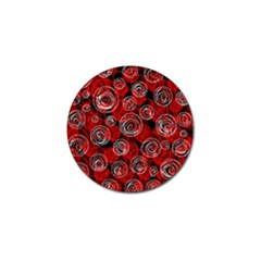 Red Abstract Decor Golf Ball Marker (10 Pack) by Valentinaart