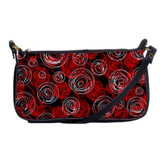 Red Abstract Decor Shoulder Clutch Bags by Valentinaart