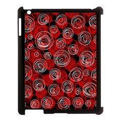 Red Abstract Decor Apple Ipad 3/4 Case (black) by Valentinaart