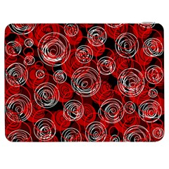 Red Abstract Decor Samsung Galaxy Tab 7  P1000 Flip Case by Valentinaart