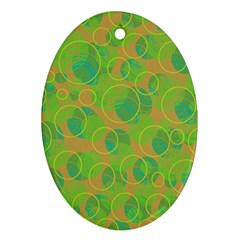 Green Decorative Art Ornament (oval)