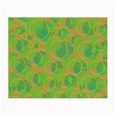 Green Decorative Art Small Glasses Cloth (2 Side) by Valentinaart