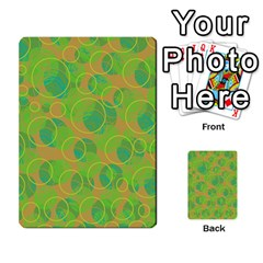 Green Decorative Art Multi Purpose Cards (rectangle)  by Valentinaart