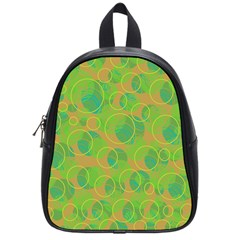 Green Decorative Art School Bags (small)  by Valentinaart