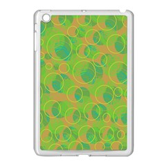 Green Decorative Art Apple Ipad Mini Case (white) by Valentinaart