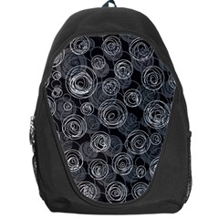 Gray Abstract Art Backpack Bag by Valentinaart
