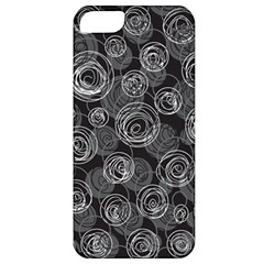 Gray Abstract Art Apple Iphone 5 Classic Hardshell Case by Valentinaart