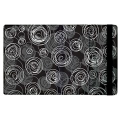 Gray Abstract Art Apple Ipad 2 Flip Case by Valentinaart