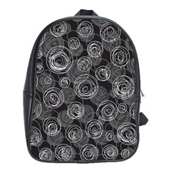 Gray Abstract Art School Bags (xl)  by Valentinaart