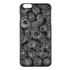 Gray Abstract Art Apple Iphone 6 Plus/6s Plus Black Enamel Case by Valentinaart