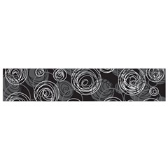 Gray Abstract Art Flano Scarf (small) by Valentinaart