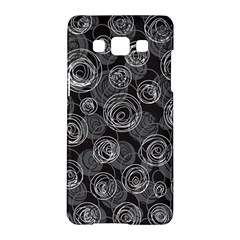 Gray Abstract Art Samsung Galaxy A5 Hardshell Case  by Valentinaart