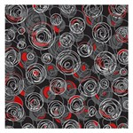 Red and gray abstract art Small Memo Pads 3.75 x3.75  Memopad
