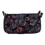 Red and gray abstract art Shoulder Clutch Bags Front