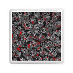 Red And Gray Abstract Art Memory Card Reader (square)  by Valentinaart