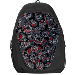 Red And Gray Abstract Art Backpack Bag by Valentinaart