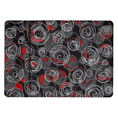 Red And Gray Abstract Art Samsung Galaxy Tab 10 1  P7500 Flip Case by Valentinaart